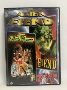 ALIEN FACTOR & FIEND rare US Retromedia DVD regional sci-fi horror movie double