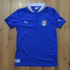 PUMA Italia Soccer Jersey Womens Short Sleeve Blue Size Large