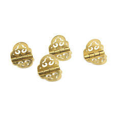 4pcs Antique Brass Decorative Hinges Auspicious Clouds For Jewelry jewellery Box