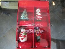 Williams Sonoma Twas the Night before Christmas Tiny Taper Holders Set of 4 New