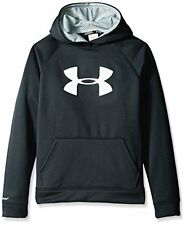 Under Armour Hoodie Youth XS Sweatshirt StormArmour Fleece Logo Black-Reflect