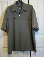 Native Threads Men's Hawaiian Casual Shirt Green Turtles 100% Polyester USA Sz L