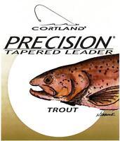 Cortland Precision Bass, Trout, Bonefish & Steelhead / Salmon Fly Fishing Leader