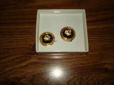 GIANNI VERSACE EARRINGS...Made in Italy...Original...New in Box
