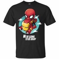 Spiderman Iron Man T-Shirt WE'RE GOING TO BE OKAY Tee Shirt Short Sleeve S-5XL