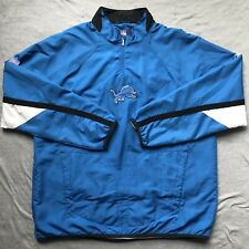 Detroit Lions NFL Authentic Sideline Jacket Pullover reebok Men Size XL 678fe45b1