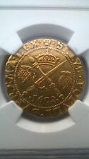 James VI Gold Hammered Full 1602 Sword and Sceptre XF40 Graded NGC