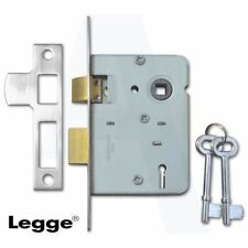 "LEGGE 75mm (3"") 2 LEVER SASHLOCK SASH LOCK NICKLE / SATIN CHROME - NEW"