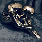Silver Modernist Abstract Meditating Woman Sculpture by Jaru 12  C 1970s