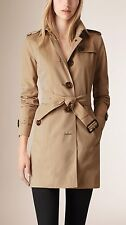 Burberry Cotton Women's Gabardine Trench Coat Color Honey Size 4 New with tags