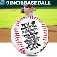 To My Son Love You From Dad Engraved Baseball Gift Anniversary Birthday Ball