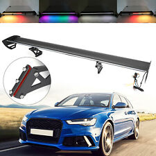 Universal Car Rear Trunk Wing Racing Spoiler Adjustable With LED Light For Sedan