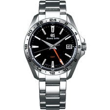 Grand Seiko Sport Collection 9F Quarts GMT 39mm Watch With Black Dial - SBGN003