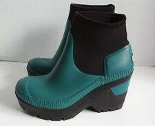 Hunter Original Deep Sea Wedge Bootie Women's UK5 US7 $225