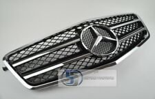 2010~2013 W212 Mercedes E Class E350 E550 Grill grille BLACK AMG thinner Frame.