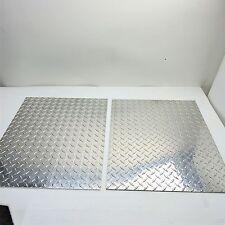 ".19"" Aluminum Diamond Tread 3003 Plate 19.5"" Wide 23.875"" Long QTY 2 SKU122847"