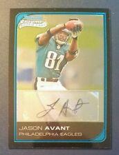 2006 Bowman Chrome Rookie Autograph JASON AVANT Eagles  **FREE SHIP**  **MINT**