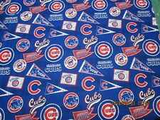 "CHICAGO CUBS  MLB 100% COTTON 1  YARD PIECE BRAND NEW DESIGN ""GO CUBS """