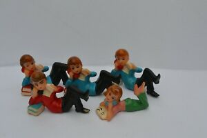 Vintage 1960's Wilton Five Teenagers Cake Toppers