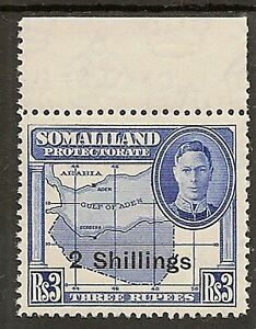 SOMALILAND PROTECTORATE 1951 2/- ON 3R SG134 MNH CAT £19