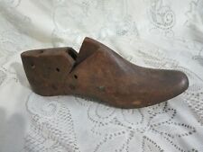 Vintage Wood Metal Cobblers Shoe Form Last Mold #681 Size 8 1/2