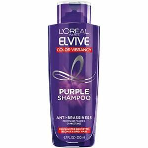 Elvive Color Vibrancy Anti-Brassiness Purple Shampoo for Color Treated Hair