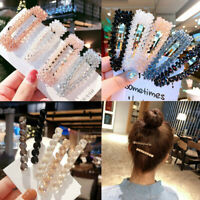Newest Casual Crystal Bead Hair Clip Hairband Comb Bobby Pin Barrette Hairpin