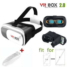 3D VR CASE/VR BOX 2ND GENERATION VIRTUAL REALITY GLASSES 2.0 + BLUETOOTH REMOTE