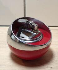 VINTAGE-BRIQUET de TABLE-BOULE-VINTAGE-ROSY-JAPAN-Plastique rouge métal chromé
