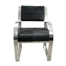 Modern Furniture Black Leather Wood Steel Chair Multipurpose Office Study Room