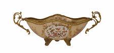 In ottone Ceramica Centro tavola Giardiniera Scodella floreale sontuosa