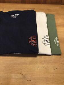 Jack & Jones XXL Chest Logo T Shirt (3 Colours)
