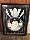 Nagel Hollywood Art Deco Print Plate Signed Framed and Matted