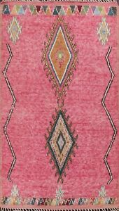 Tribal Geometric Moroccan Oriental Area Rug Hand-knotted Wool Living Room 6'x10'