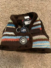 NWT Puppia Dog Puppy Harness Soft Vest Crayon Collection Blue Brown LARGE