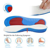 Orthotic Shoe Insoles Plantar Fasciitis Warm Fleece Arch Support Flat Feet Foot