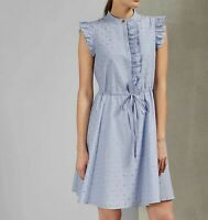 NWT Ted Baker London Beyonc Ruffle Trim A-Line Dress, Ted 5( US14)