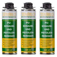 3x Pistolenreiniger Schaumreiniger PU Reiniger Reinigungsmittel Entfetter 500 ml
