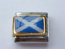 SCOTLAND FLAG ITALIAN CHARM  fits all 9mm makes of Italian bracelet SY9