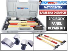 7pc Coche Auto Body Panel Tool Kit de reparación con mangos de madera paliza Martillos 1513