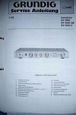 Service Manual für Grundig SV 1000 ,ORIGINAL