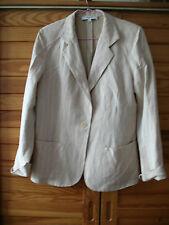 veste Rodier beige rosé avec petites rayures taille 40