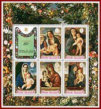 Cook Islands 1971 Christmas, ART, painting, M-sheet ** MNH, SG MS370, Mi Bl 10