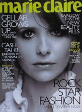 Sarah Michelle Gellar November 2006 Marie Claire Magazine