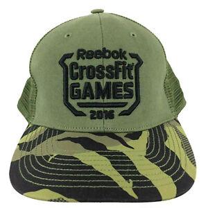 Reebok Crossfit Games Cap 2016 Workout Camo Logo Snap Back Trucker Baseball Hat