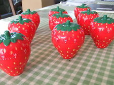 9x NINE!!  Strawberry Kitchen Timer Novelty Clockwork Wholesale Job Lot Wind Up
