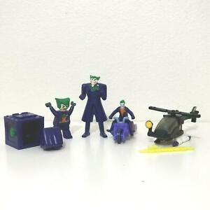 Lot of 5 - JOKER McDonald Toy Figures Cycle Lego Copter Punch Box Batman Villain