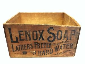 Antique Lenox Just Fits the Hand Proctor Gambles Advertising Shipping Crate Box