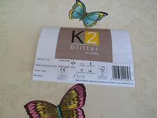 K2 -by Holden Vinyltapete Glitter Schmetterlinge 0 /meter 11532