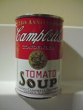 Campbell's 125th Anniversary Tomato Soup Can Coin Bank 1994 Mint NO Tarnish
